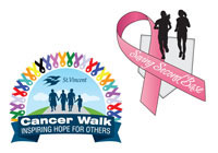 St.Vincent Cancer Walk and Saving Second Base Logos