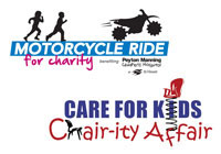 Care for Kids Chairity Affair and Peyton Manning Motorcycle Ride Charity Logos