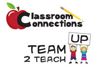 Classroom Connections and Team Up 2 Teach Logos