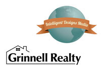 Grinnell Realty and Intelligent Designs Media Logos